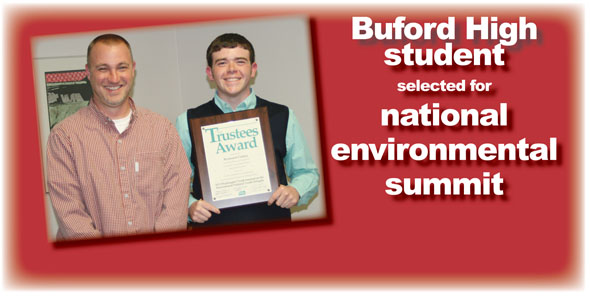 Buford junior selected for environmental summit in Washington, D.C.