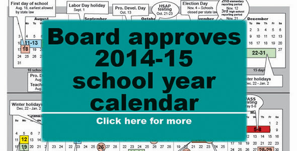 Board approves 2014-15 school year calendar