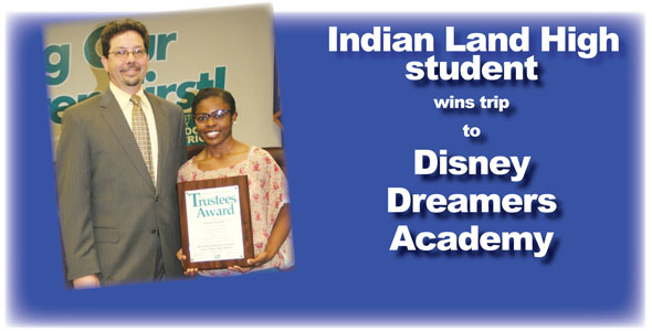 Student wins trip to Disney Dreamers Academy