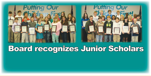 Eighth graders recognized for performance on PSAT