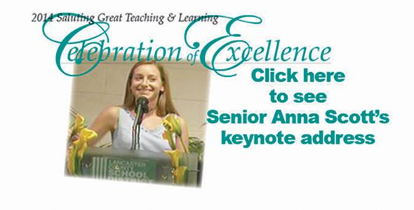 Senior Anna Scott challenges students, 'Discover your passion. Be world-changers'