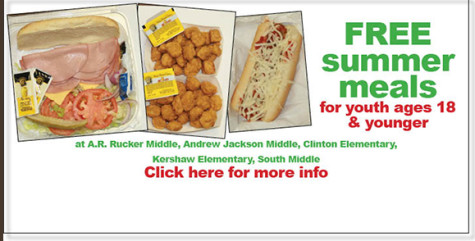 FREE summer meals available for youth