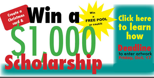Create a card for chance to win $1,000 scholarship