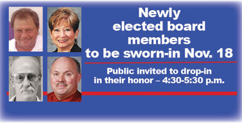 Newly elected board members to be sworn in Nov. 18
