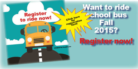 Register now to ride bus 2015-16