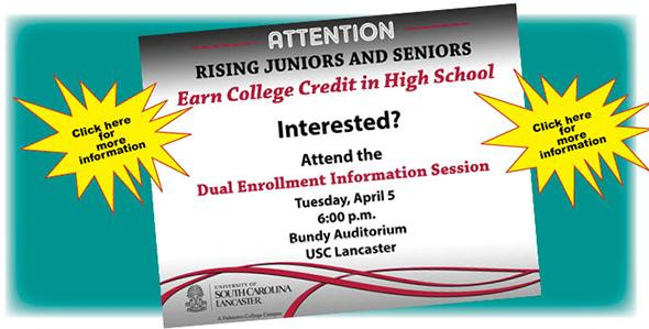 Dual enrollment information session April 5