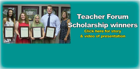 Teacher Forum presents scholarships to four graduates