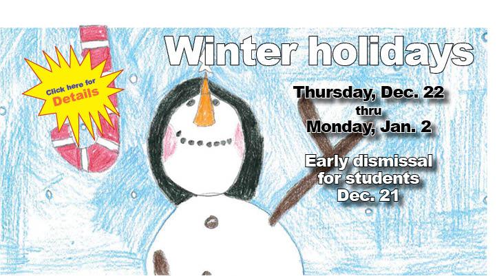Schools reopen Tuesday, Jan. 3
