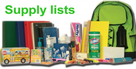School supply lists available online, in stores