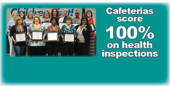 DHEC recognizes cafeterias for perfect score