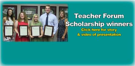 Teacher Forum presents scholarships to four graduates