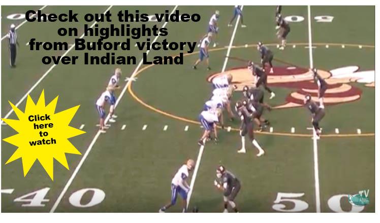 Buford defeats Indian Land 34-31