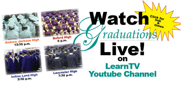 Graduations live May 31 on Youtube on Comporium Cable 114 starting June 5