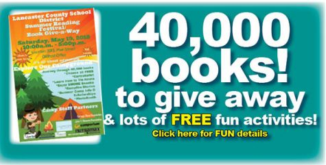 Book Giveaway: Saturday, 10 a.m.-5 p.m., Downtown Lancaster