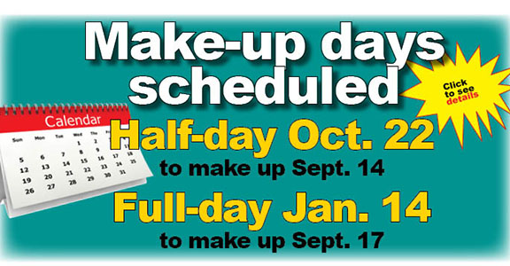 Click for more info on make-up dates & grading period changes