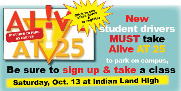 Alive At 25 classes Oct. 13 at Indian Land High