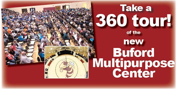 Take a 360 tour of the new Buford Multipurpose Center
