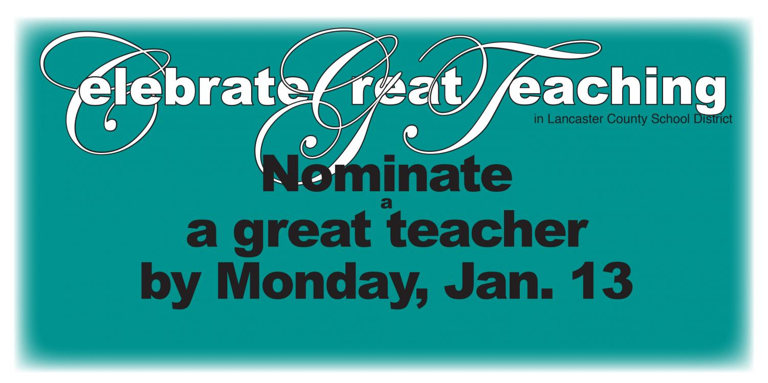 Help recognize great teachers in our district