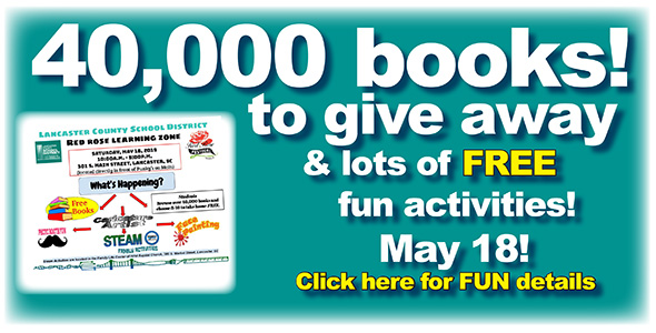 Book Giveaway: Saturday, May 18, 10 a.m.-5 p.m., Downtown Lancaster