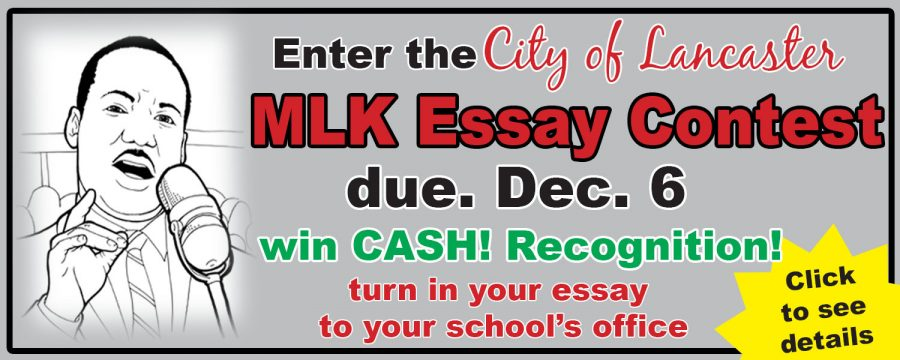 City of Lancaster Martin Luther King Jr. Essay Contest – Entries due Dec. 6