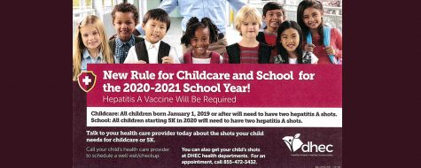 New Rule for 2020-21 Childcare and School vaccine