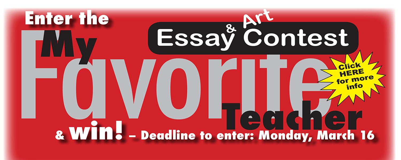 Deadline March 16 to enter My Favorite Teacher