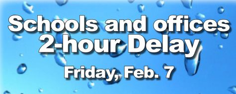 Schools and offices operate on a 2-hour delay, Friday, Feb. 7