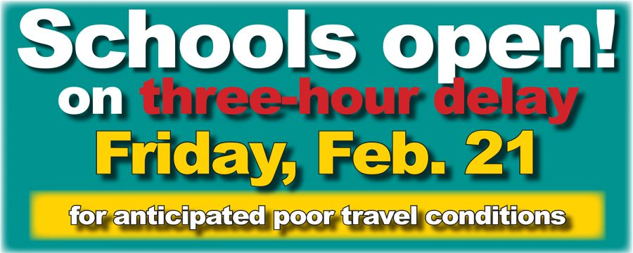 Schools+and+offices+on+three-hour+delay+Friday%2C+Feb.+21