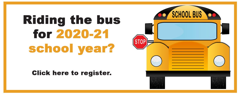 Bus registration for  2020-21