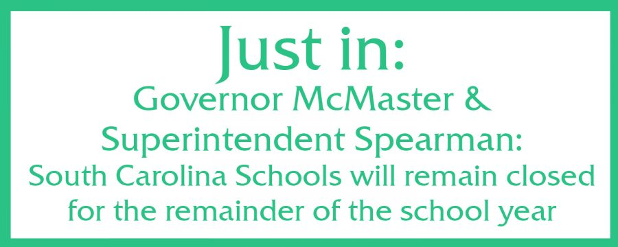Governor+McMaster%2C+Superintendent+Spearman%3B+Schools+remain+closed+for+the+remainder+of+the+year