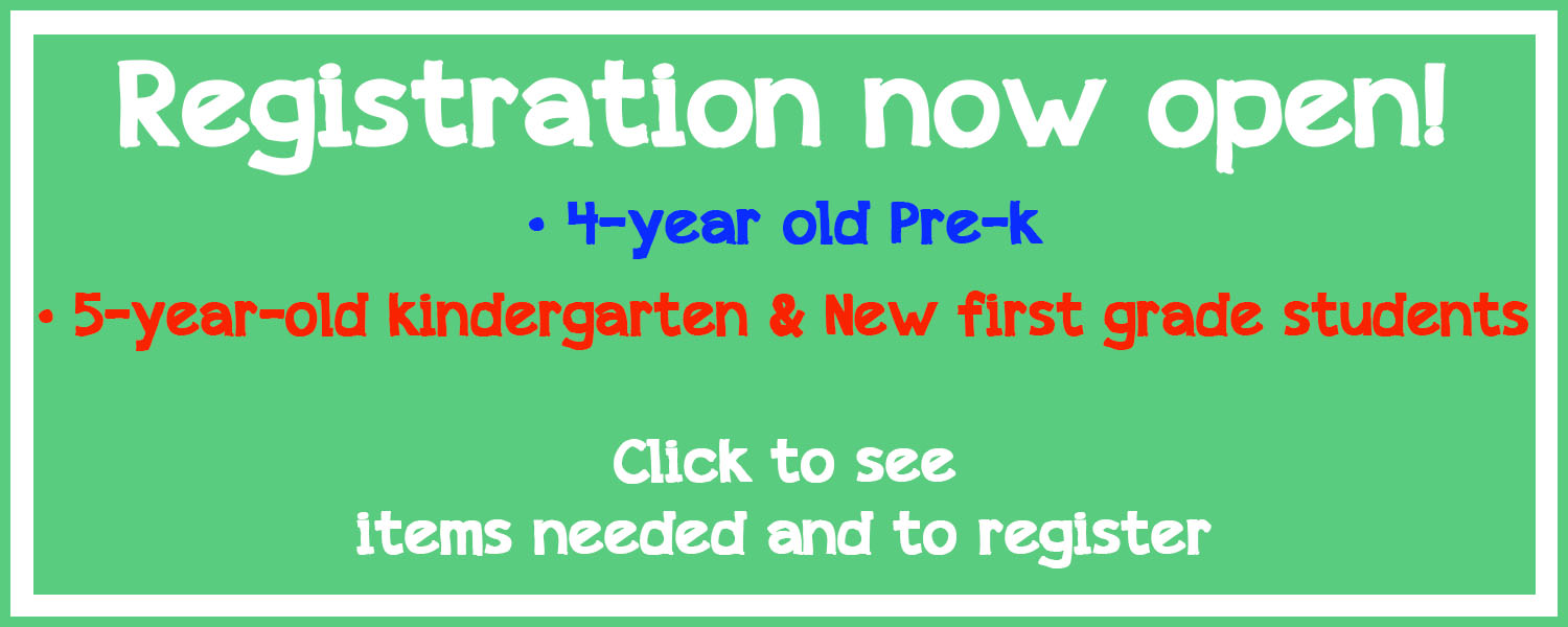 4 & 5 year-old & new first grader registration