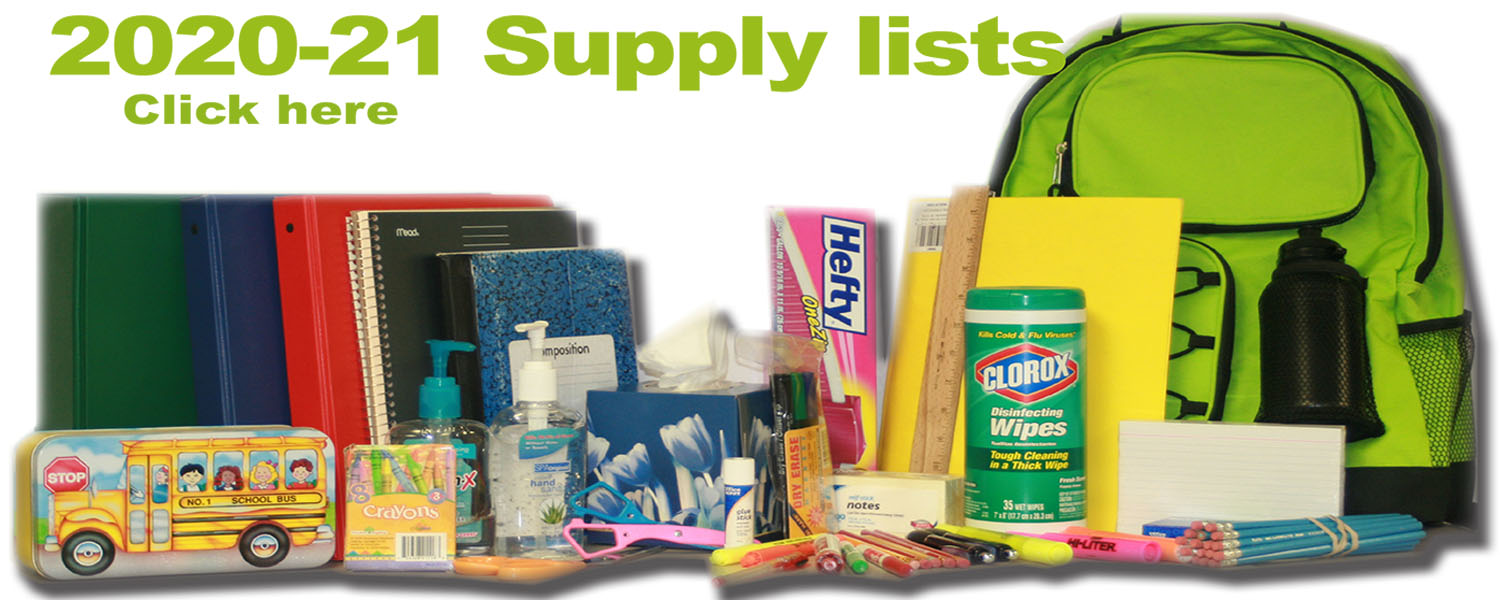School supply lists available online, in stores & digital
