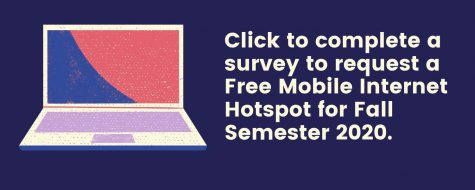 Request, Pick-up for a free hotspot for Fall 2020