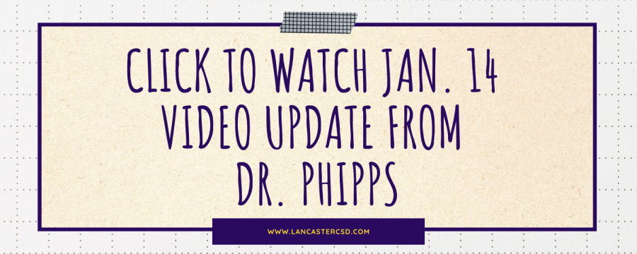 Jan. 14 video update from Dr. Phipps