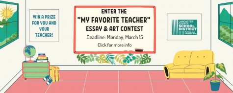 Deadline March 15 - My Favorite Teacher essay and art contest