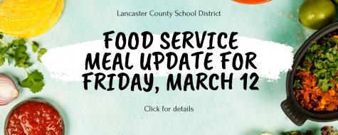 Change in meal pick up for Week of March 8-12 only