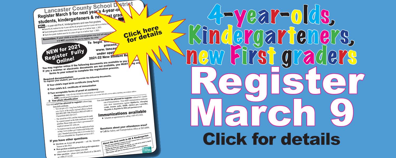 New kindergarten & new 1st grade registration