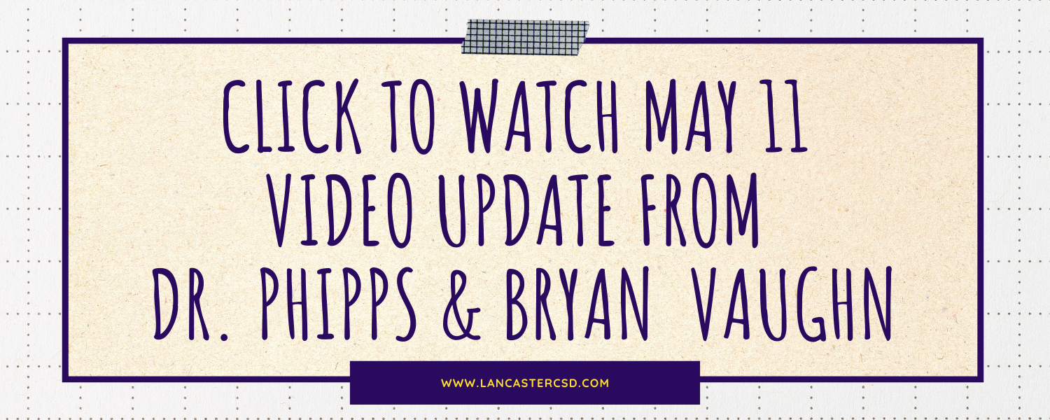 Update from Dr. Phipps and Bryan Vaughn